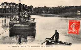 SAINT-MAMMES - Les Remorqueurs Sur La Seine, Animée - Hausboote