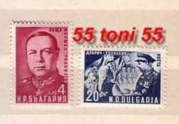 1950 MARSHAL  TOLBUKHIN  2v.-MNH  Bulgaria / Bulgarie - 1945-59 Volksrepublik