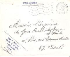 Yonne : LA ROCHE Franchise AGENT TECHNIQUE DESEAUX ET FORETS A DIXMONT - Postmark Collection (Covers)