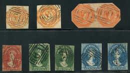 Tasmanie, Petit Lot De 7 T. Et Une PAIRE Obl. Entre N°2 Et 8, B/TB - Stamps