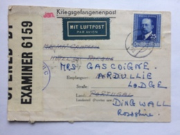 GERMANY Undercover Mail Air Mail Kriegsgefangenenpost To Portugal Re-directed To Scotland - Allemagne