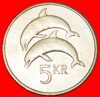 + GREAT BRITAIN DOLPHINS (1981-1992): ICELAND ★ 5 CROWNS 1992! LOW START ★ NO RESERVE! - Iceland