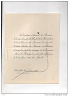 Mariage 1912: Marie De Renesse Et Louis Vander Burch Du Chastel De La Howardries - Obituary Notices