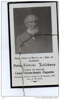 Jules Lefebvre Epoux Flogontier Léonie +Ixelles 30/12/1917 Photo - Obituary Notices
