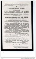Paul Moens Epoux Elisabeth De Hase °Alost Aalst 1818 + 20/8/1889 - Obituary Notices