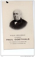 Paul Goethals ° Kortrijk Courtrai 1822 + 15/10/1908 Photo - Obituary Notices