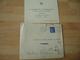 Le Ministre Tchecoslovaquie Et Mme Stefan Osusky Carte Visite Invitation - Visiting Cards