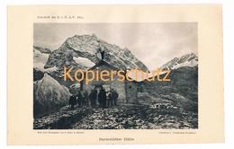 004 Darmstädter Hütte Bergsteiger Verwall Alpenverein Berghütte Kunstblatt Lichtdruck 1894!! - Unclassified