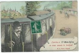J'arrive à Sainte Ste-Mère-Eglise Et Vous Envoie Le Bonjour (fantaisie, Train) - Sainte Mère Eglise