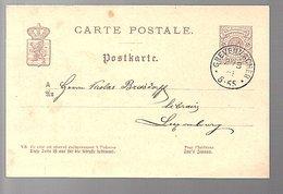 1887 GREVENMACHER Nicolas Breisdorff Libraire  (548) - Entiers Postaux