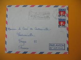 Lettre De La Réunion CFA  1968  N° 350A De Saint Joseph Pour La France Contrexéville Vosges (EMA : Des Paysages Inoublia - Reunion Island (1852-1975)