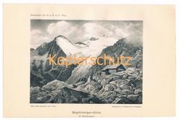 019 Gatt Magdeburger Hütte Aquarell Gatt Lichtdruck 1894!! - Prints