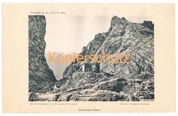 023 Riemannhaus Berchtesgaden Alpen Alpenverein Berghütte Kunstblatt Lichtdruck 1894!! - Unclassified