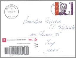 Cob  3204 Albert II Sur Lettre Recommandé D'Ensival - Belgique