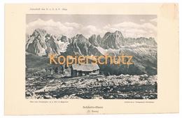 025 Schlernhaus Rifugio Bolzano Lichtdruck 1894!! - Unclassified