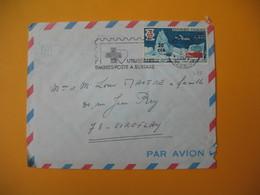 Lettre De La Réunion CFA  1969  N° 380 De Saint Denis Pour La France Viroflay (EM : Croix Rouge Utilisez Les Timbres à.. - Reunion Island (1852-1975)