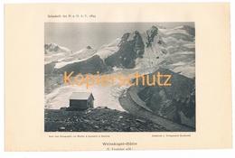 031 Weisskugelhütte Gletscher Sektion Frankfurt Lichtdruck 1894!! - Unclassified