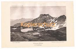 032 Zeno Diemer Tilisunahütte Gletscher Lichtdruck 1894!! - Prints