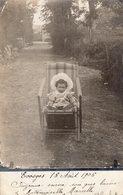 """S2174 Cpa 01 Evosges Par Saint Rambert """" Carte Photo Enfant Dans Un Fauteuil """" - Autres Communes"""