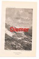 034 Passauer Hütte Zeno Diemer Lichtdruck 1894!! - Prints