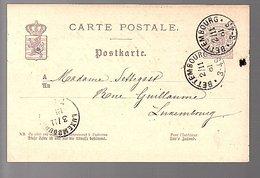 1881 BETTENBURG  > Settegast Rene Guillaume  (550) - Entiers Postaux
