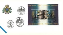 1994 - San Marino BF 50 Basilica Di San Marco - FDC - Chiese E Cattedrali