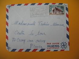 Lettre De La Réunion CFA  1969  N° 374 De Saint Pierre  Pour La France Crouy Sur Ourcq (EM : Une Perle Sur L'Océan) - Reunion Island (1852-1975)