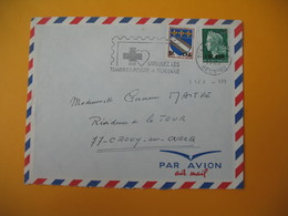Lettre De La Réunion CFA  1969  N° 346A - 384 De Saint Denis  Pour La France Crouy Sur Ourcq (EM : Utilisez Les Timbres. - Reunion Island (1852-1975)