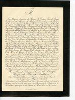 MOREUIL 80 FAIRE-PART DE DECES DU COMTE DE ROUGE MARQUIS DE PLESSIS-BELLIERE 1888 - Décès
