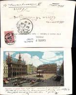 617947,Glitzer Ak Bruxelles Brüssel La Grande Place Belgium - Belgien