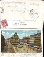 617946,Litho Glitzer Bruxelles Brüssel Perspective De La Place De Brouckere Belgium - Ohne Zuordnung