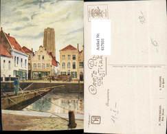 617931,Künstler Ak Mechelen De Kaai Malines Le Quai Belgium - Belgien