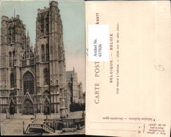 617926,Bruxelles Brüssel Dom Kirche Belgium - Belgien