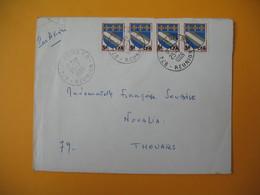 Lettre De La Réunion CFA  1969  N° 346A Saint Denis  Pour Noualia Thouars - Reunion Island (1852-1975)