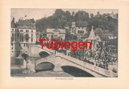 851 Sinner Festzug Tübingen Neckarbrücke 1902 !! - Unclassified