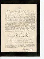 PARIS 75 FAIRE-PART DE DECES DE ANNE ARMAND ELIE VICOMTE DE GONTAUT-BIRON 1890 - Obituary Notices