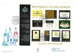 2005 - San Marino BF 88 Grandi Vini - FDC - Vini E Alcolici
