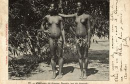 Cpa CONGO BELGE - Costume De Femme BANDA (vu De Devant) NU - NUDE, Circulée 1909 - Congo Belge - Autres