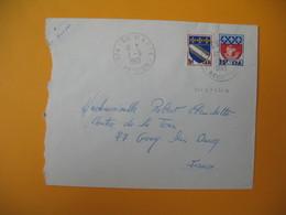 Lettre De La Réunion CFA  1969  N° 346A - 350A  Sainte Marie  Pour La France - Reunion Island (1852-1975)