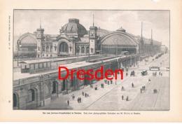 854 Dresden Hauptbahnhof Bahnhof Eisenbahn 1897 !! - Unclassified