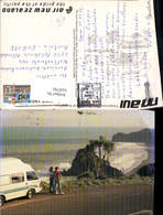 618790,New Zealand Strand M. Maui Campingbus Auckland - Ansichtskarten