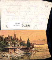 618781,Künstler Ak F. Perlberg India Benares Am Ganges - Ansichtskarten