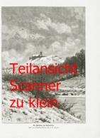 855-2 H.G. Vogel Wartburg Winterbild Eisenach 1898 !! - Prints
