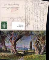 618739,Künstler Ak Der Garten V. Gethsemane Jerusalem Getsemani Israel - Israel