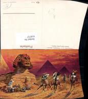 618737,Künstler Ak F. Perlberg Samum B. Großen Sphinx Gizeh Giza Egypt - Ägypten