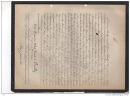 Albert De Pouilly Capiatin 94 Ligne + Vedrun 32 Ans 12/6/1877 Kervyn De Lettenhove D'herbemont Mouzay Waillet Brugge - Obituary Notices