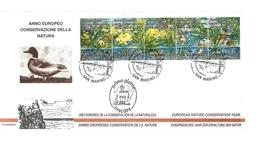 1995 - San Marino 1437/41 Anno Della Conservazione Della Natura - FDC - Protezione Dell'Ambiente & Clima
