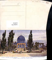618722,Künstler Ak Jerusalem Tempelplatz Omar-Moschee - Israel