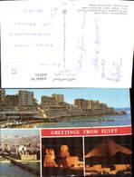 618715,Mehrbild Ak Alexandria Stanley Beach Giza The Sphinx River Nile Egypt - Ägypten