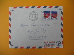 Lettre De La Réunion CFA  1970  N° 386   Saint Denis Pour La France Viroflay Campagne Antituberculeux - Reunion Island (1852-1975)